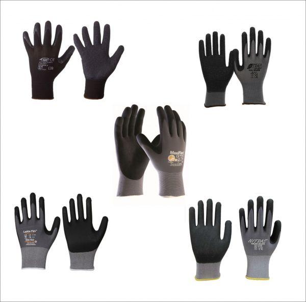 Modelle: Nitras Nylotex 3520, Maxiflex 2420,Leikaflex 1466, Skin-Flex 8700, Finegrip