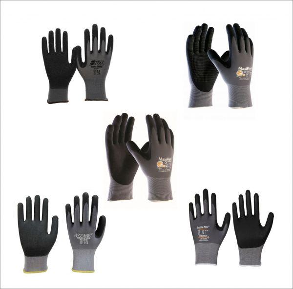 Muster Nitras Nylotex 3520, Maxiflex Endurance,Maxiflex Ultimate Nylon,Skin Flex 8700,Leikaflex 1466