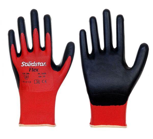 Solidstar®  FLEX • Feinstrickhandschuh mit Nitrilschaumbeschichtung