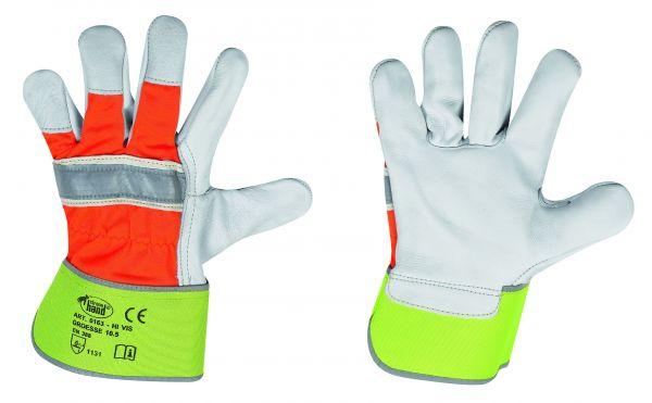 HI-VIS Rindvollleder-Handschuhe