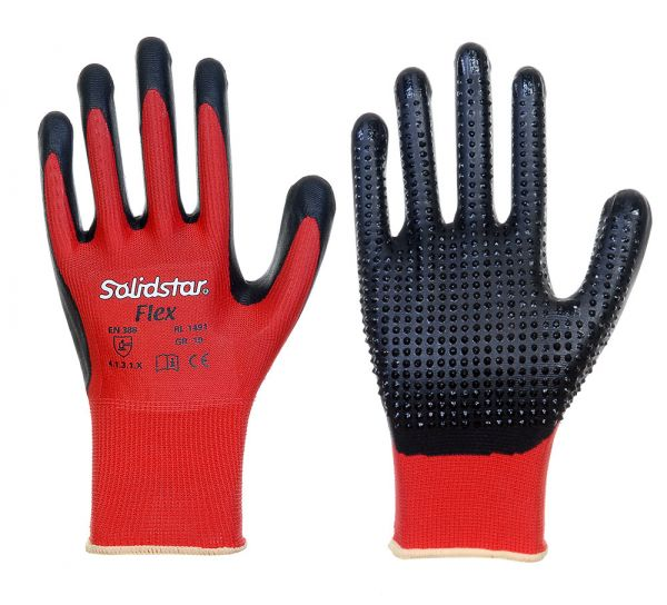 Solidstar®  FLEX • Nitrilschaumbeschichtung + Noppen aus Nitril