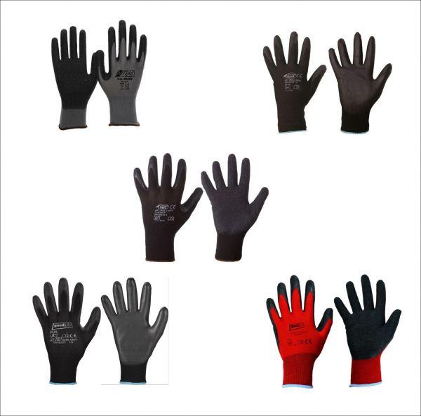 Modelle: Nitras Nylotex 3520, Darkgrip, Blackgrip, Lingbi PU, Finegrip