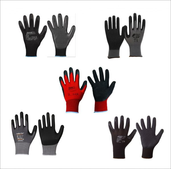 Modelle: Nitras Nylotex 3520, Darkgrip, Blackgrip, Leikaflex 1466, Finegrip