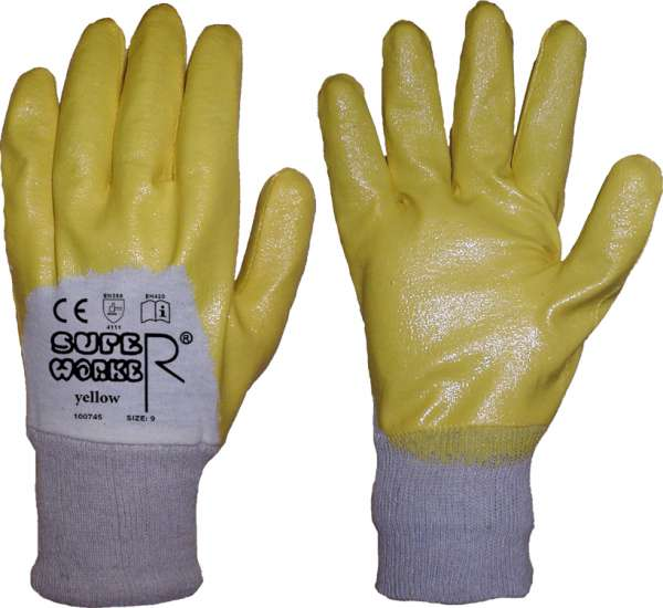 Nitril Arbeitshandschuhe Super Worker Yellow