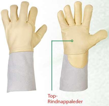 Rindnappaleder-Handschuhe für Schweißer WELDERSTAR