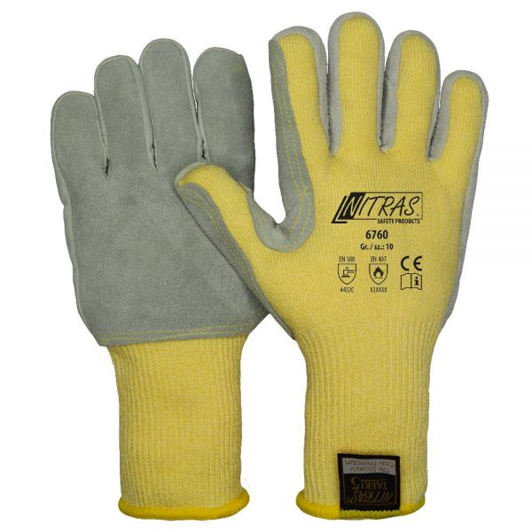 Nitras® 6760 Leder Schnittschutzhandschuhe